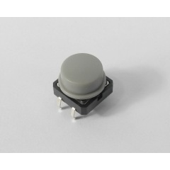 Hand piece button, grey