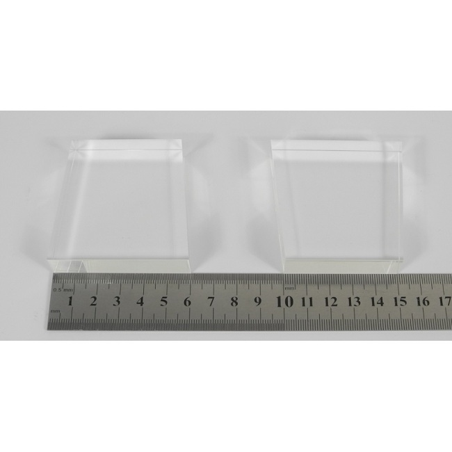 light guide, BK7, trapezium, 15mm*50mm*60mm*60mm H60mm, without coating