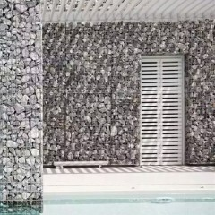 Gabion cage with the pebbles