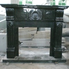 Indian green marble fireplace