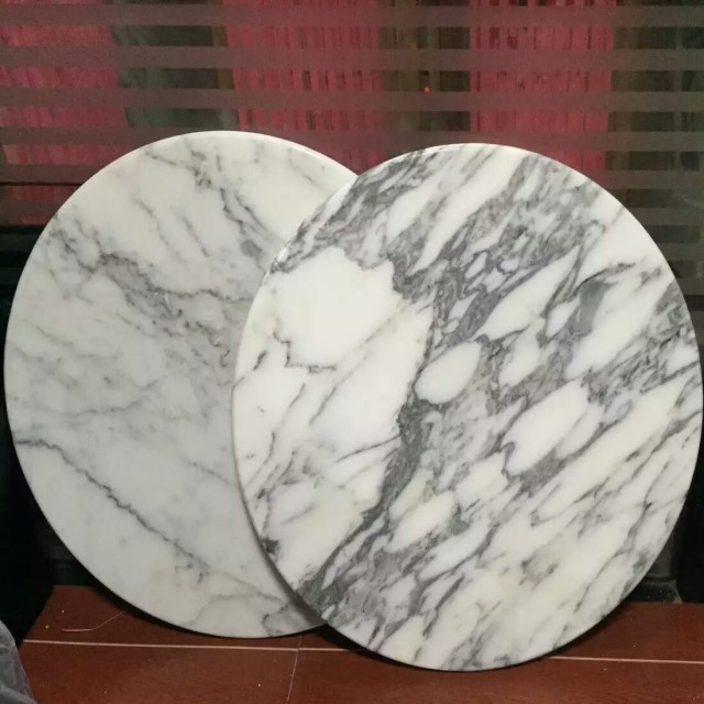 Arabescato white  marble table top