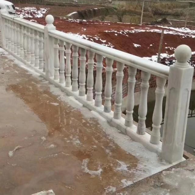 guangxi white marble baluster