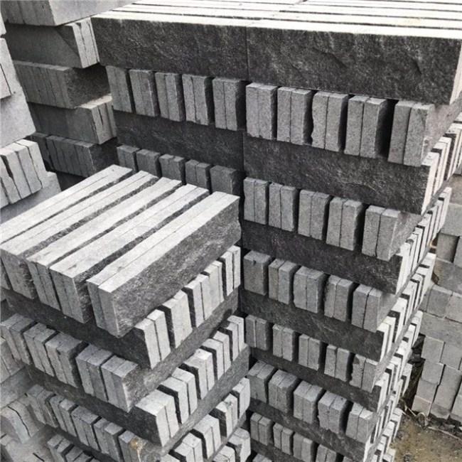 G684  black granite cube stone
