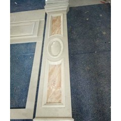 Beige marble door frame for inner decoration