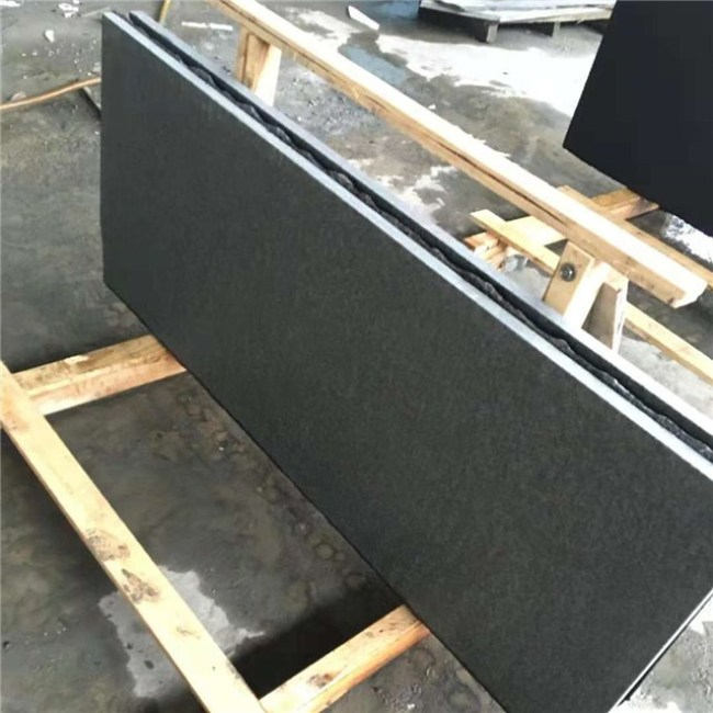 Flamed G684 granite slabs