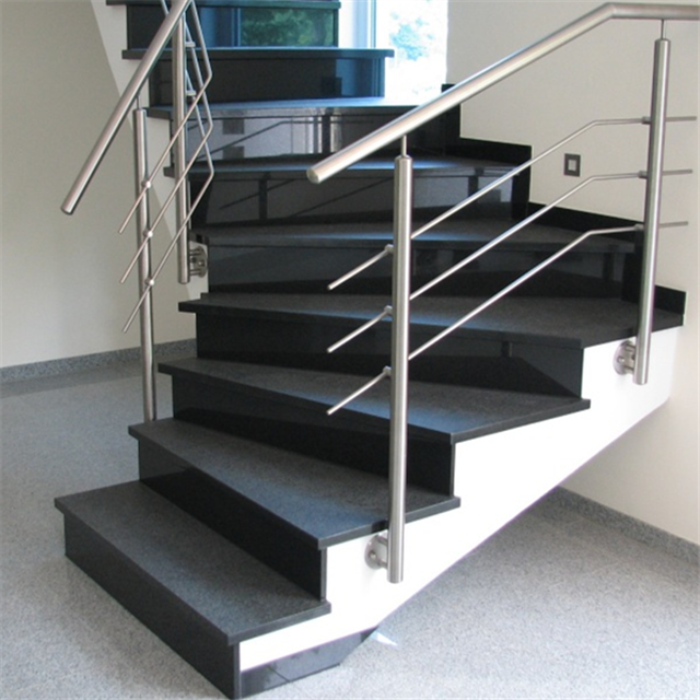 honed G684 granite stairs
