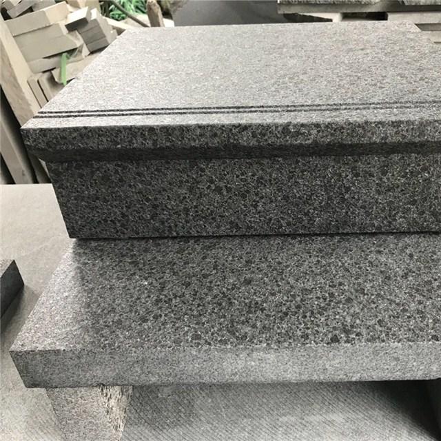 flamed G684 granite steps