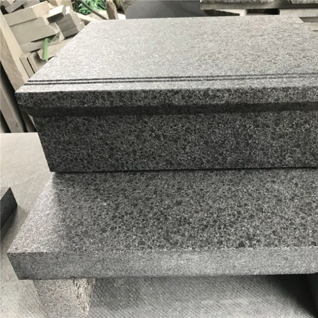 G684 granite stair steps ,black granite steps