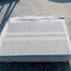 Silver grey granite stair steps