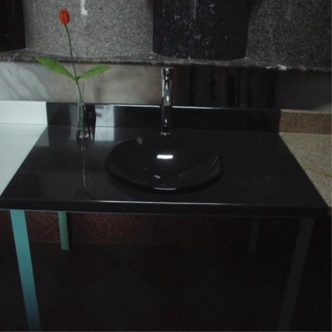 Shanxi black  granite solid stone sink
