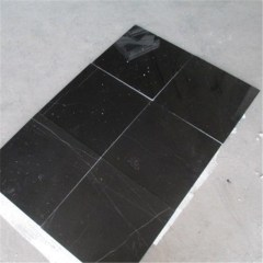 Black Emperador marble tiles