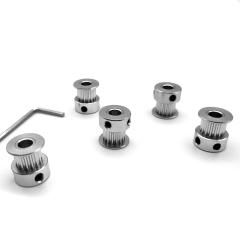 (Pack of 5pcs) Timing Belt Pulley Wheel(16Teeth 5mm Bore) for 3D Printer 6mm Width Timing Belt +Hexagon wrench Timing Belt Pulley Wheel(16Teeth 5mm Bore) for 3D Printer 6mm Width Timing Belt by LINGLONG