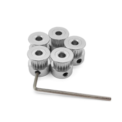(Pack of 5pcs)Timing Belt Pulley Wheel(20Teeth 5mm Bore) for 3D Printer 6mm Width Timing Belt by LINGLONG
