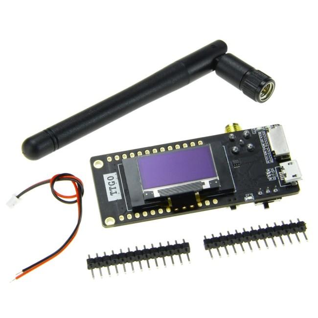 ESP32 - Paxcounter LoRa32 V2.1_1.6 version 433/868/915MHZ LoRa ESP-32 OLED 0.96 Inch SD Card Bluetooth WIFI Module SMA