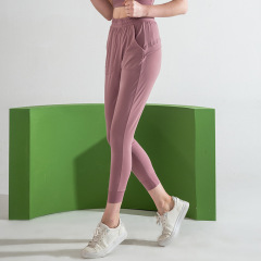 new sports women's high elastic loose Leggings breathable running casual pants