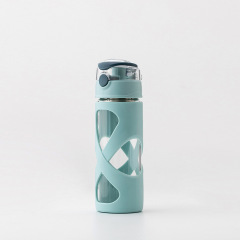 new heat-resistant glass portable creative water cup with cover