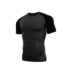 Men's running quick drying short sleeve breathable gym fitness T-shirt