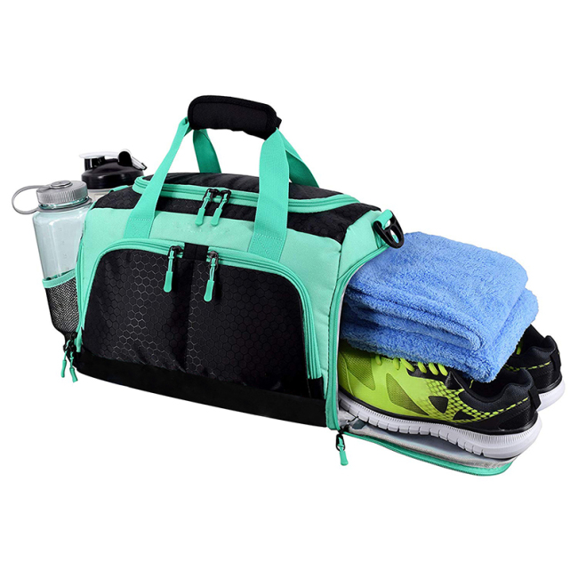 Factory Directly Supply custom sneaker duffle bag printing for gym