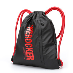 Canvas cotton sport drawstring backpack bag with custom logo
