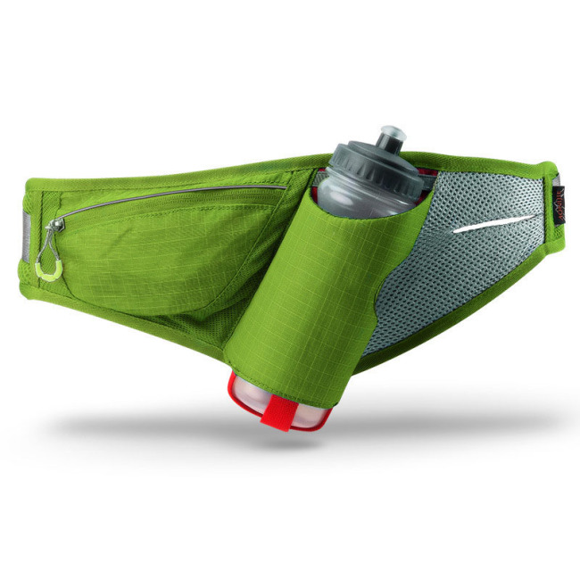 men's marathon sports running waist bag with water bottle