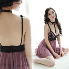 Women Sexy Lace Lingerie Set Sheer Slip Dress Underwear