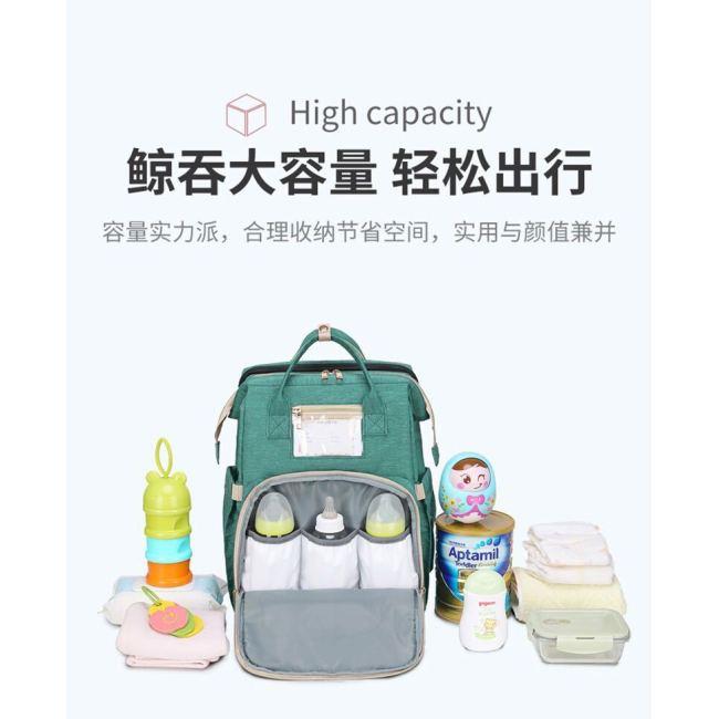 2020 new portable foldable crib mummy bag multi functional large capacity Travel Backpack