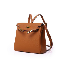 New head leather Kelly platinum backpack backpack leather single shoulder bag in Europe and America