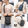 Cross border special for new men's chest bag multifunctional outdoor Single Shoulder Messenger Bag Korean USB chest bag waterproof Backpack