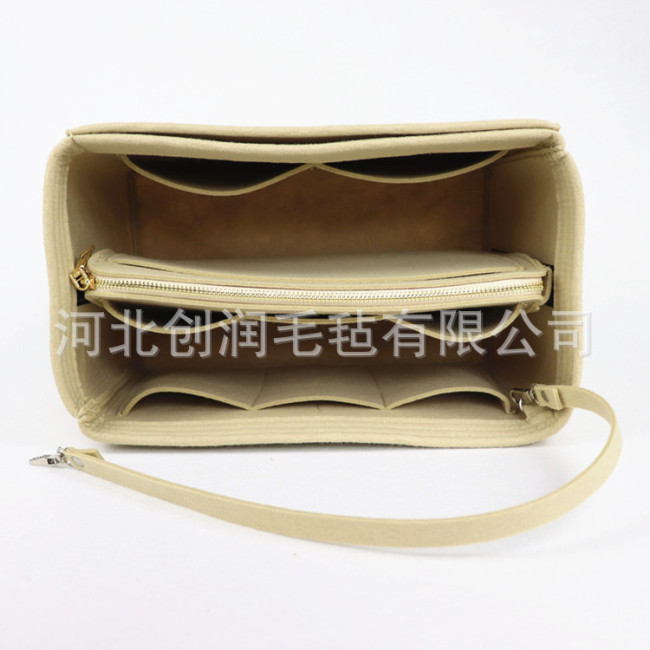 Cross border wholesale Korean felt make-up bag multi-functional travel women's mummy storage make-up bag customized logo
