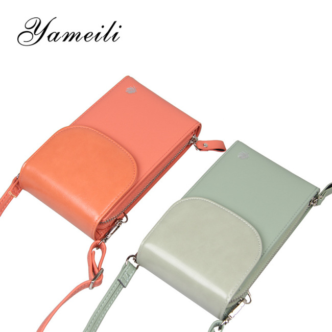 2020 new Korean fashion multi-functional mobile phone bag vertical Mini Wallet large capacity women's One Shoulder Messenger Bag