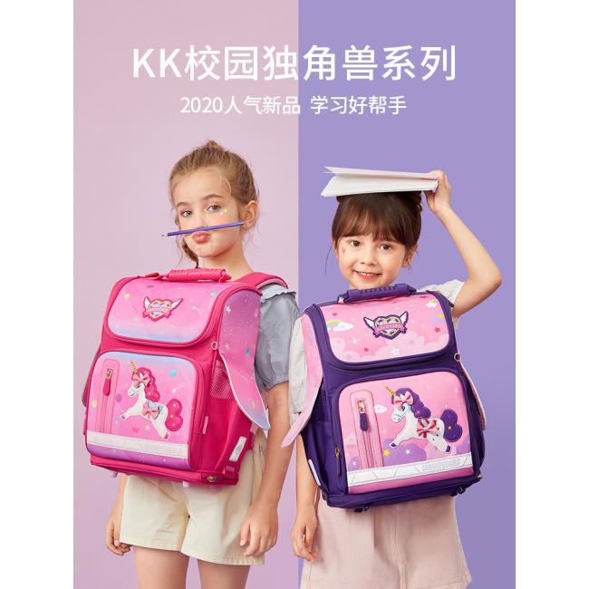 Schoolbag primary school girl 1-3-6 cartoon children aged 6-12
