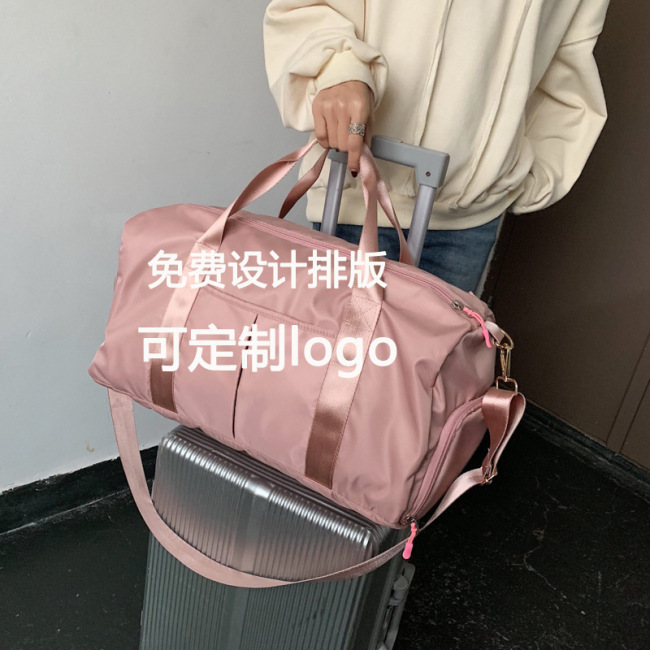 Large quantity and cheap dry wet separation Yoga Bag female luggage bag travel bag handbag fitness bag finished product customized logo