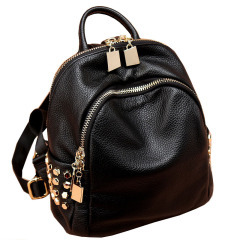 Backpack women leather fashion Mini simple cowhide college style versatile backpack women bag