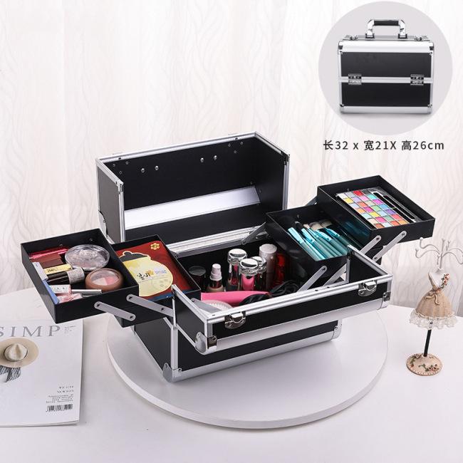 Aluminum alloy professional make-up box beauty salon embroidery nail kit a wholesale agent
