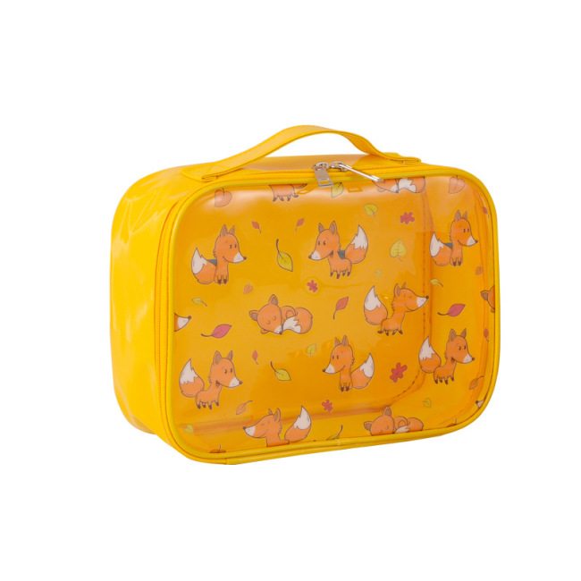 New transparent wash and make-up bag travel ins three piece set of PVC large capacity original printing storage bag