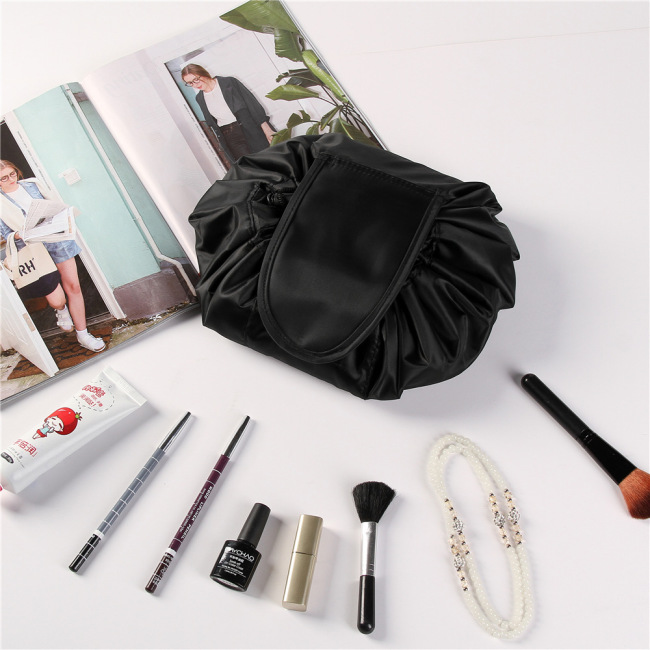 Korea drawstring Cosmetic Bag Travel Portable lazy man storage bag magic bag storage artifact can be customized logo