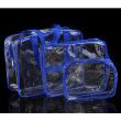 blue transparent three-piece set +$1.55