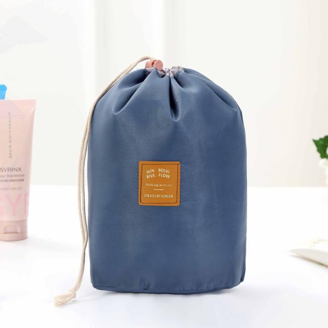 Korea travel large capacity Cosmetic Bag Travel suit wash bag outdoor waterproof storage bag cylinder wash bag