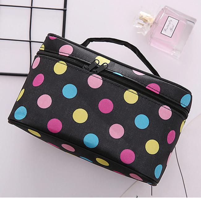 Cosmetic bag hand bag waterproof square cosmetic bag with mirror storage wash bag