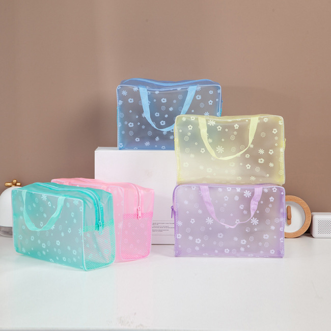 Spot wholesale portable PVC wash bag travel waterproof bath bag portable finishing bag transparent wash bag