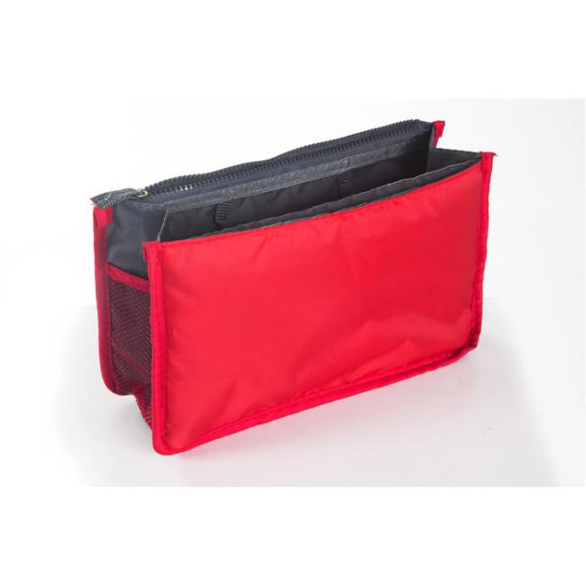Bufan's portable double zipper bag, middle bag, multifunctional storage bag, washing and cosmetic storage bag, large finishing bag