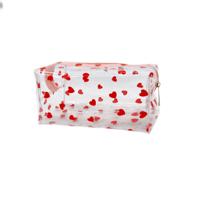 Ins transparent cosmetic bag waterproof wash storage bag smiling face summer love peach cat Charlie PVC