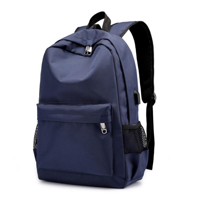 Source of foreign trade backpack men's leisure USB men's backpack breathable wear-resistant computer bag travel bag wholesale distribution