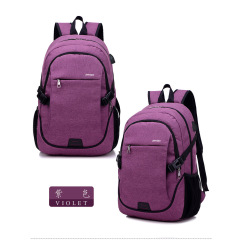 New men and women USB charging Shoulder Bag Messenger Bag fashion leisure outdoor travel bag waterproof fabric bag