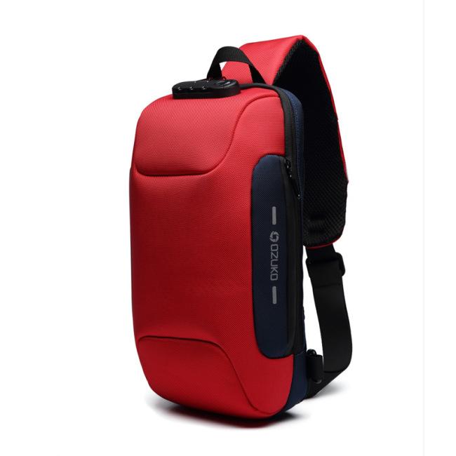 New chest bag USB anti theft men's chest bag men's shoulder bag waterproof messenger bag customization