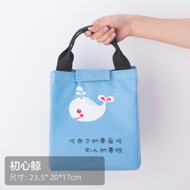 New cartoon Oxford cloth heat preservation bag, cooking box, lunch bag, outdoor picnic portable ice bag