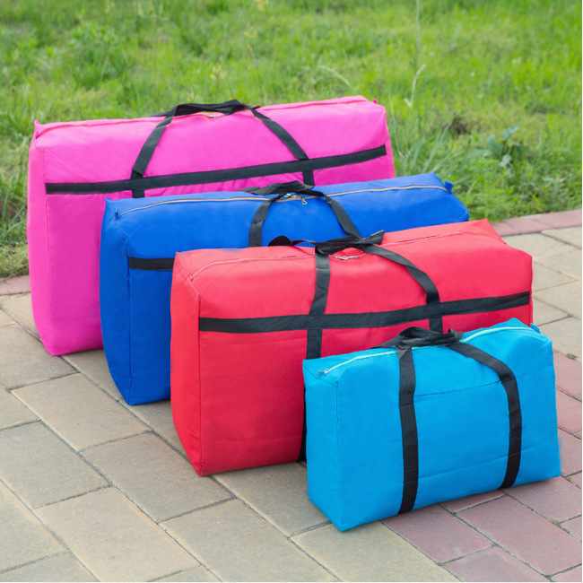 Wholesale hand-held large bag clothes quilt storage bag waterproof cloth bag moving bag Oxford cloth luggage packing bag