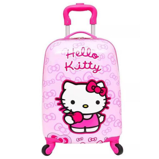 Gift customized 18 inch children square Trolley Case cute cartoon waterproof trunk universal wheel student travel case
