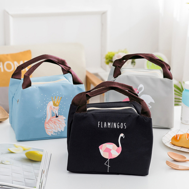 Liancheng cartoon bird insulation bag waterproof take away lunch bag hand pull chain multi function heat preservation bag ice bag