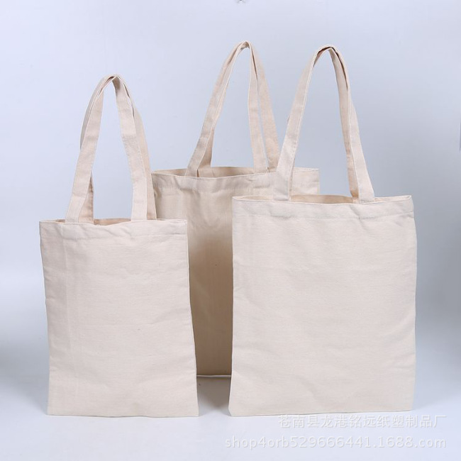 Factory spot advertisement environmental protection canvas portable shopping bag cotton bag customized color canvas bag custom printed logo